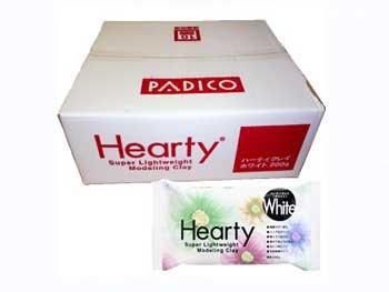 送料無料 ハーティクレイ ホワイト 1箱(200gx40個)