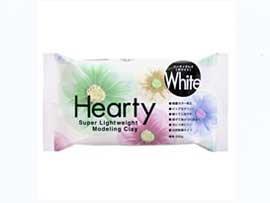 送料無料 ハーティクレイ ホワイト 1箱(200gx40個) 【参考画像1】