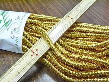 ■品切れ■ 金打ちひも 中太 直径約4mmX約15m