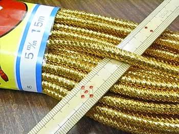 金打ちひも 太 直径約5mmX約15m