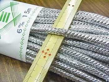 銀打ちひも 極太 直径約6mmX約15m