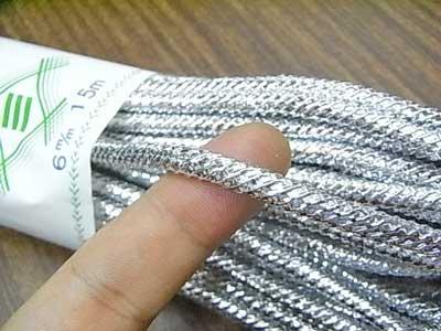 銀打ちひも 極太 直径約6mmX約15m 【参考画像2】