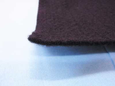 ドミット芯 黒 接着無 厚手タイプ 100cm幅 【参考画像1】