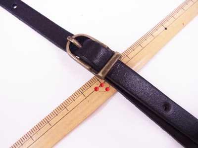 ショルダー持ち手 本革 黒 #850 幅約1cm 長さ約105cm〜125cm 【参考画像2】