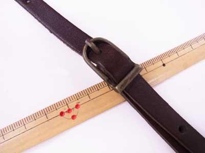 ショルダー持ち手 本革 コゲ茶 #770 幅約1cm 長さ約105cm〜125cm 【参考画像2】