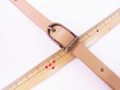 ショルダー持ち手 本革 ベージュ #711 幅約1cm 長さ約105cm〜125cm 【参考画像2】