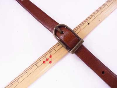 ショルダー持ち手 本革 茶 #123 幅約1cm 長さ約105cm〜125cm 【参考画像2】