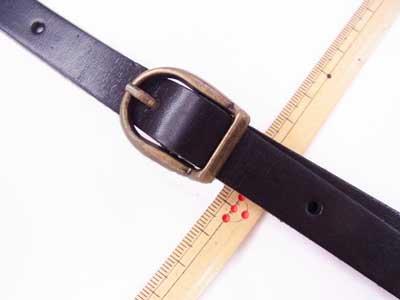 ショルダー持ち手 本革 黒 #850 幅約1.5cm 長さ約105cm〜125cm 【参考画像2】