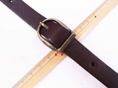 ショルダー持ち手 本革 コゲ茶 #770 幅約1.5cm 長さ約105cm〜125cm 【参考画像2】