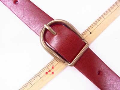 ショルダー持ち手 本革 赤 #102 幅約2cm 長さ約105cm〜125cm 【参考画像2】