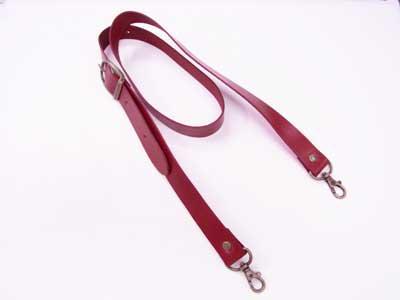 ショルダー持ち手 本革 赤 #102 幅約2.5cm 長さ約105cm〜125cm 【参考画像1】