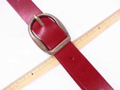 ショルダー持ち手 本革 赤 #102 幅約2.5cm 長さ約105cm〜125cm 【参考画像2】