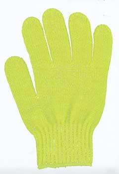 カラー手袋 黄緑