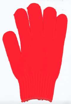 カラー手袋 朱赤