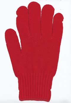 カラー手袋 濃赤