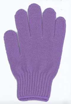 カラー手袋 藤色