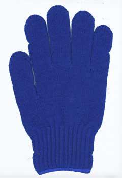 カラー手袋 花紺