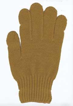 カラー手袋 金茶色