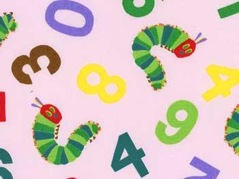 ■廃番■ はらぺこあおむし ピンク キャラクター生地 2013年度版
