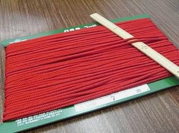 クララコード C-1000 赤 ポリエステル紐 太さ約2.5mm 1反 約30m巻