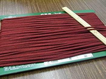 クララコード C-1000 エンジ ポリエステル紐 太さ約2.5mm 1反 約30m巻