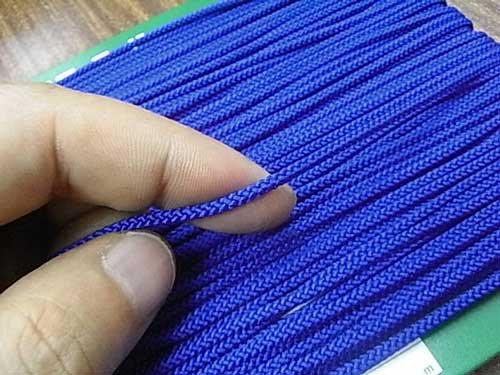クララコード C-1000 紺色 ポリエステル紐 太さ約2.5mm 1反 約30m巻 【参考画像2】