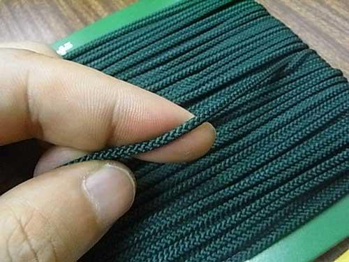 クララコード C-1000 深緑 ポリエステル紐 太さ約2.5mm 1反 約30m巻 【参考画像2】