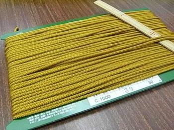 クララコード C-1000 黄土色 ポリエステル紐 太さ約2.5mm 1反 約30m巻