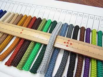 クララコード C-1000 col.27 ポリエステル紐 1反 約30m巻 太さ約2.5mm