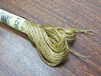 ■品切れ■ 購入不可|DMC ラメ刺繍糸 金 ゴールド 25番糸 E3821