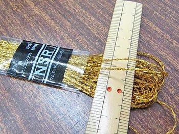 マイラー NSR刺繍糸 金 ラメ 刺しゅう糸