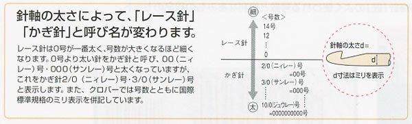 クロバー レース針 ペン-E No.0 41-600 【参考画像2】