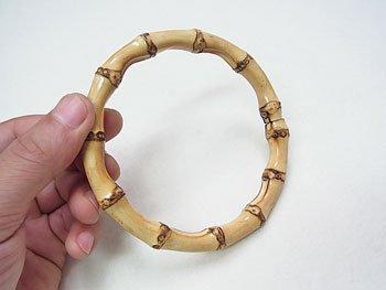 ジャスミン バンブー持ち手・根竹 B150-小 直径約10.5cm