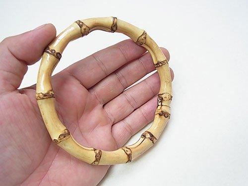 ジャスミン バンブー持ち手・根竹 B150-小 直径約10.5cm 【参考画像1】