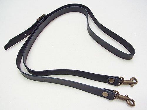 ジャスミン 本皮ショルダータイプ持ち手 S1015 黒 幅約1.5cm 約1m 【参考画像1】