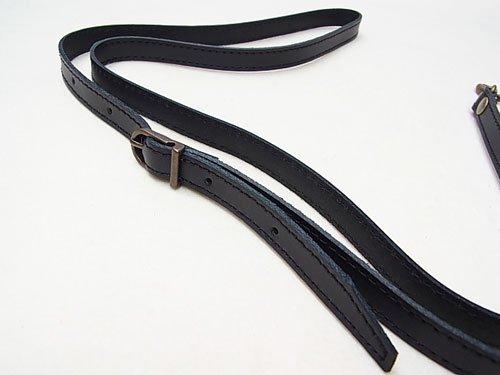 ジャスミン 本皮ショルダー持ち手 S2012 黒 幅約1.2cm 約1.2m 【参考画像2】