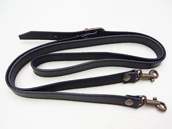 ジャスミン 本皮ショルダー持ち手 S2015 黒 幅約1.5cm 約1.2m