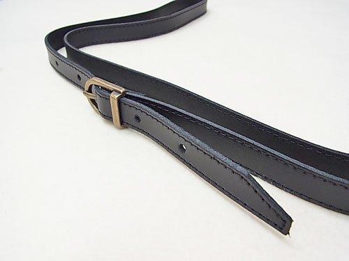 ジャスミン 本皮ショルダー持ち手 S2015 黒 幅約1.5cm 約1.2m 【参考画像2】