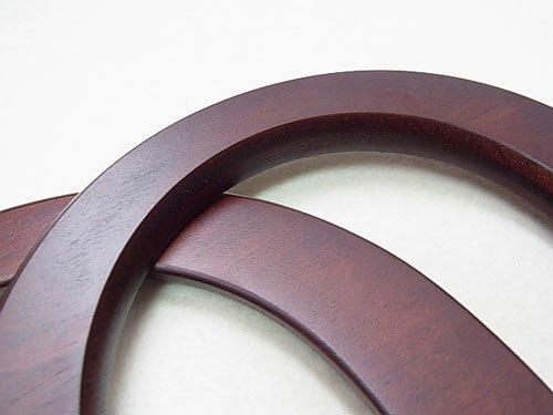 ジャスミン 木工持ち手 No.1911 茶 約15.5×12cm 【参考画像1】
