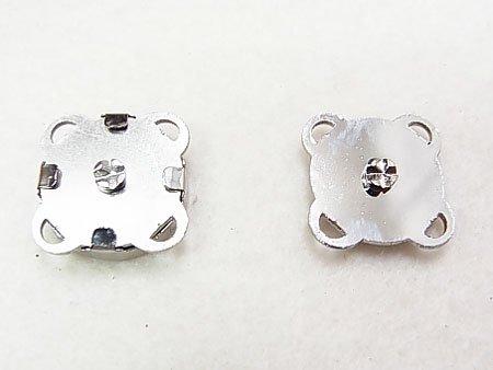 マグネットホック 縫い付けタイプ S シルバー No.3001 【参考画像1】