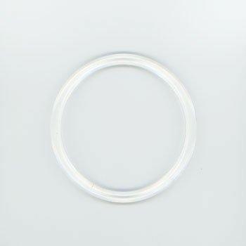 ジャスミン プラリング持ち手 丸型P273-小 透明 外径約10.5cm