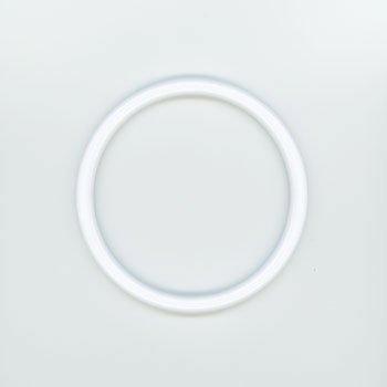 ジャスミン プラリング持ち手 丸型P273-小 白 外径約10.5cm