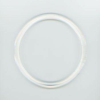 ジャスミン プラリング持ち手 丸型P273-大 透明 外径約13cm