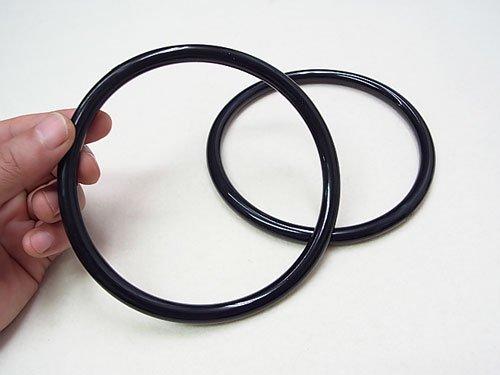 ジャスミン プラリング持ち手 丸型P273-大 黒 外径約13cm 【参考画像1】