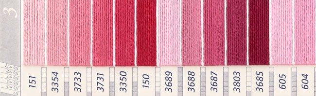 DMC 刺繍糸セット 25番 col.151〜915x各1束 26色セット ピンク・赤色系 3 【参考画像2】