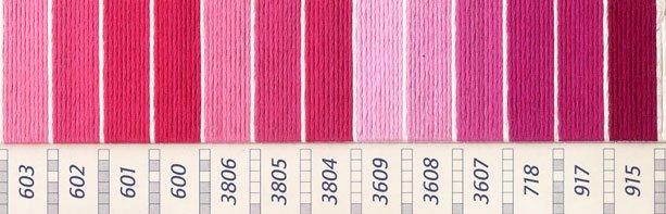 DMC 刺繍糸セット 25番 col.151〜915x各1束 26色セット ピンク・赤色系 3 【参考画像3】