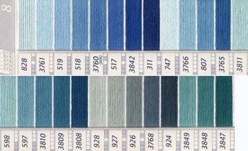 DMC 刺繍糸セット 25番 col.828〜3847x各1束 26色セット 紫・青色系 4