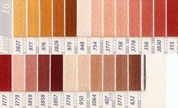 DMC 刺繍糸セット 25番 col.3827〜632x各1束 24色セット 黄・橙色系 4