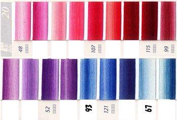 DMC 刺繍糸セット 25番 col.48〜67x各1束 8色セット 段染め・グラデーション 1
