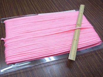 アクリルひも ピンク 太さ約3mm 1反約50m
